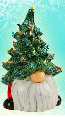 GNOME TREE 13 inch Lighted Gnome Christmas Tree with light kit