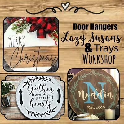 Custom Round Door Hanger/Tray/Lazy Susan 18