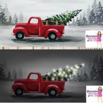 Trucking Home The Tree With Lights Option! In Studio or Zoom class