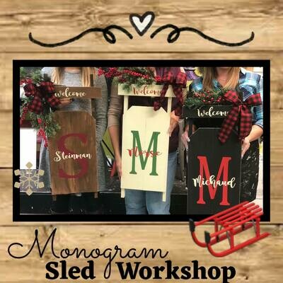 Custom Monogram Sled TAKE HOME KIT