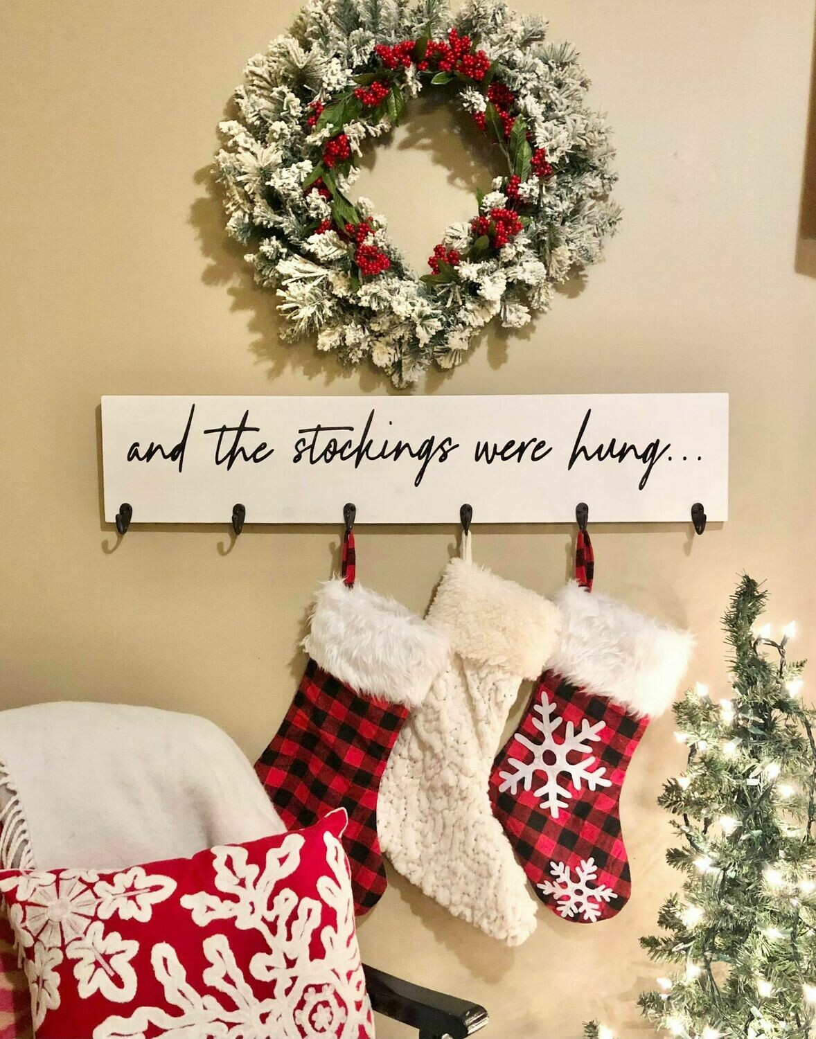 Stockings Were Hung Wood Sign Take and Make Kit