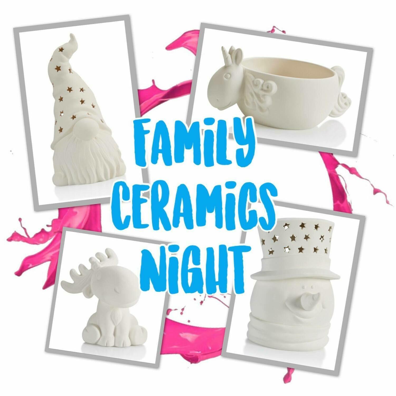 Family Ceramics In Studio Night January 29th