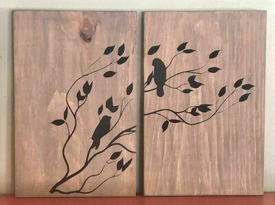 Love Birds Date Night Wood Sign Kit