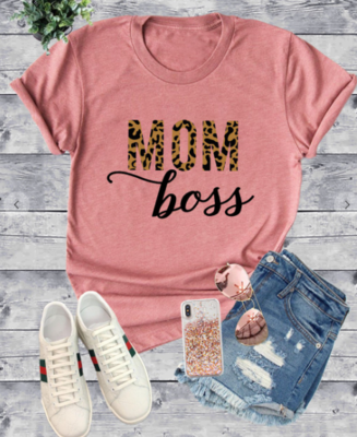 CLEARANCE Mom Boss Graphic T shirt