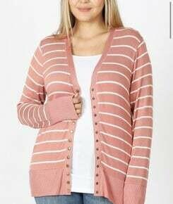 SALE Plus Size Snap Button Cardigan