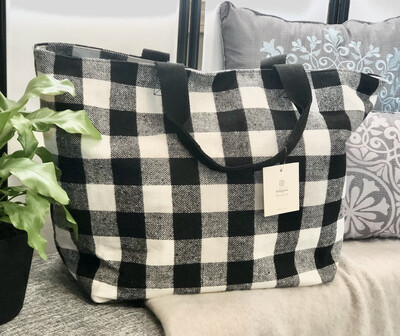 Buffalo Plaid Flannel Tote Bag
