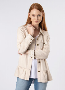 SALE Island Breeze Linen and Lace Button Up Jacket