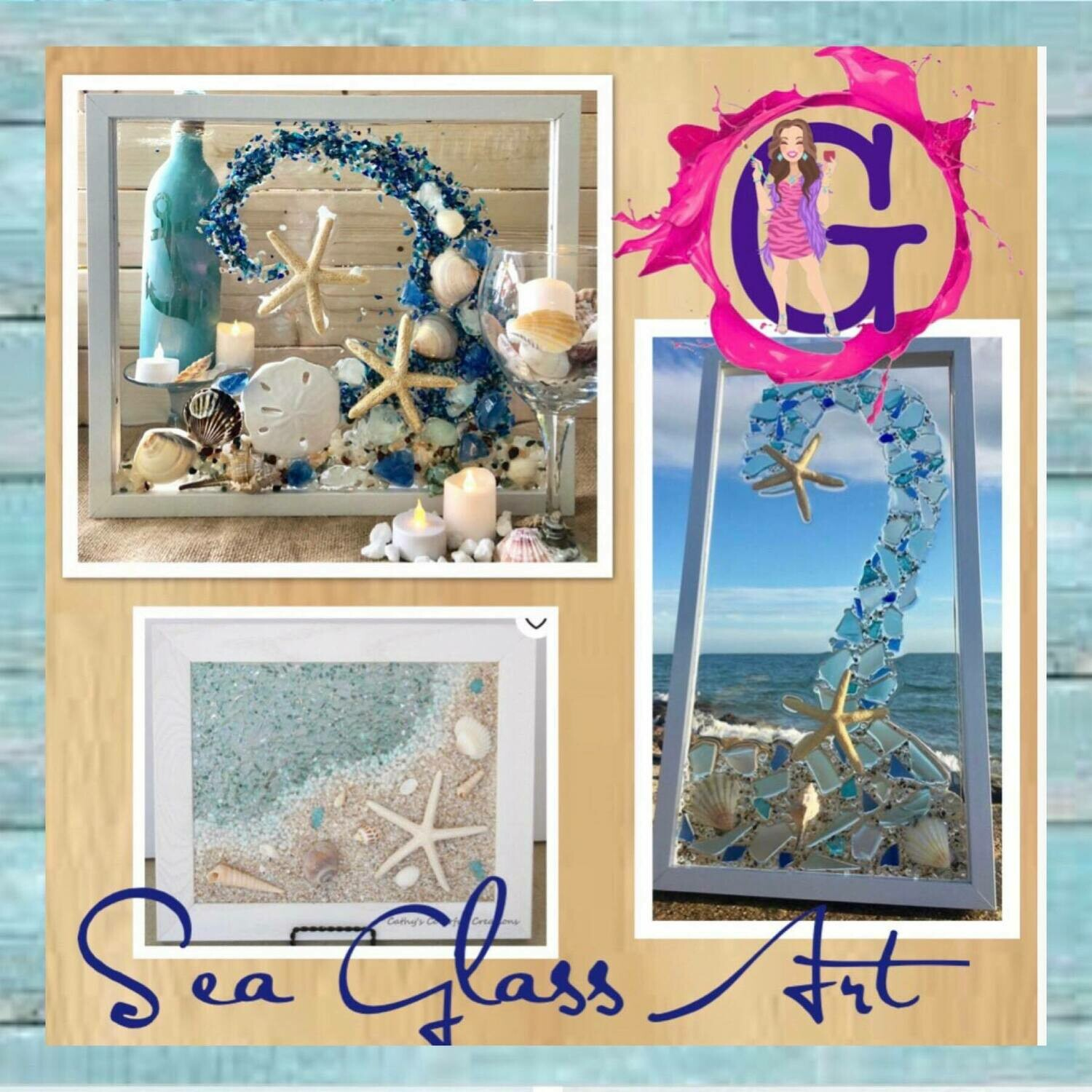 Sea Glass/Resin Art IN STUDIO Class May 22nd