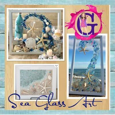 Sea Glass/Resin Art IN STUDIO Class May 22nd