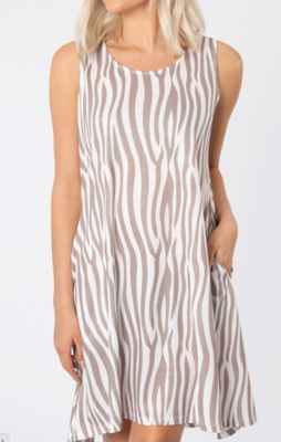Island Breeze Dress Zebra