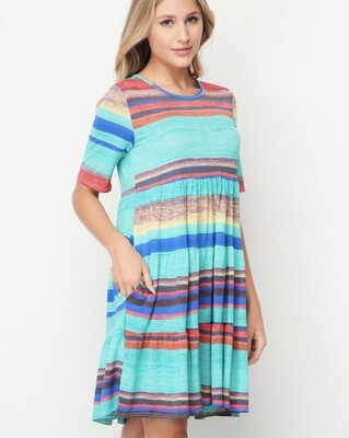 Babydoll Stripe Dress