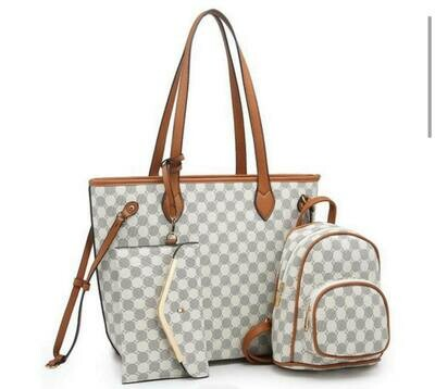 Monogram 3 in 1 Shopper Set