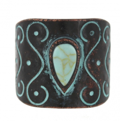 Turquoise Cuff Adjustable Ring