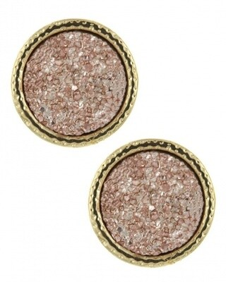 Druzy Round Studded earrings