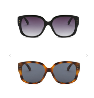 Retro Fashion Sunglasses With Gold Stud Accent