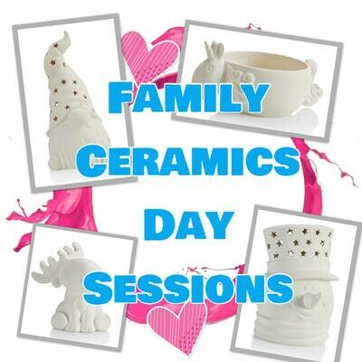 Family Ceramics Day Sessions April 22nd Choose from 2 Sessions
