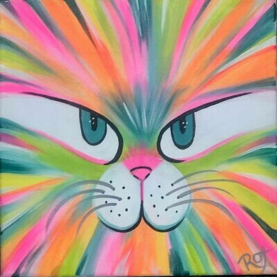 Cool Cat Family Friendly IN STUDIO Paint Night
