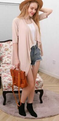 Flowy Draped Open Cardigan 5 Colors