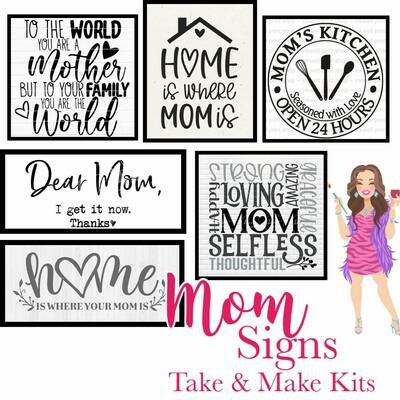 Mom Signs Take and Make Stencil Kits