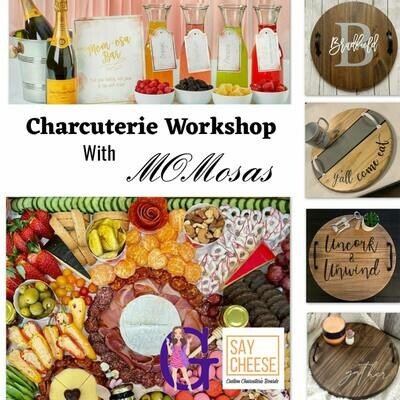 PAIR OF TICKETS PACKAGE For: Charcuterie Board Brunch Workshop With Refreshments & Mimosas