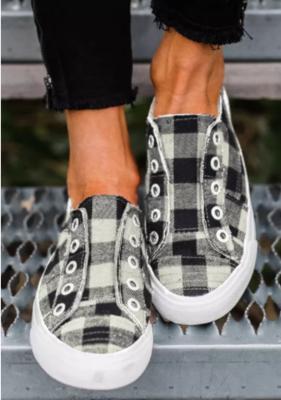 Buffalo Plaid Canvas Sneakers