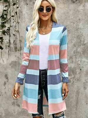 CLEARANCE Pastel Striped Cardigan