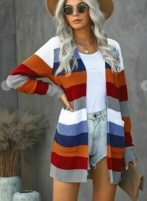 Fall For Stripes Cardigan