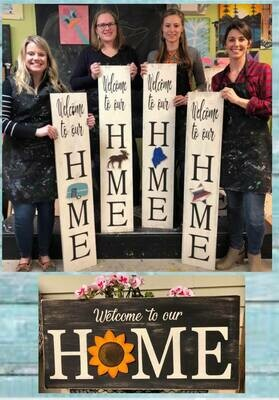 Interchangeable HOME Signs In Studio May 19th