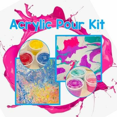 Acrylic Pour Kit 2 Color Combo Choices
