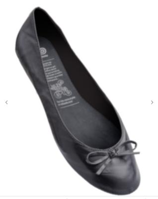 Rollasole Ballet Flats  Back To Black