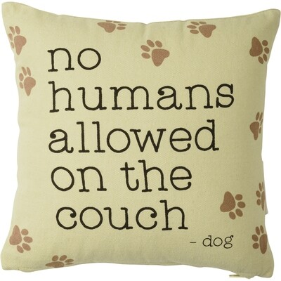 No humans allowed, couch pillow