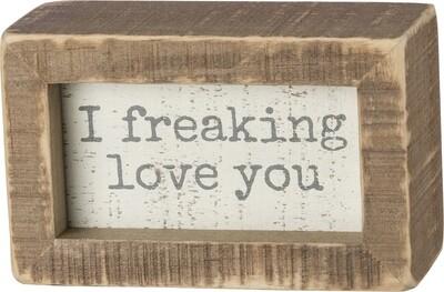Mini Wooden Box sign