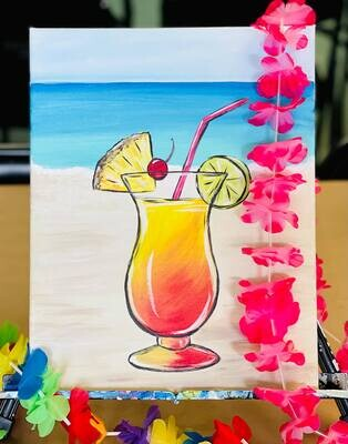 Luau Party Paint and Sip