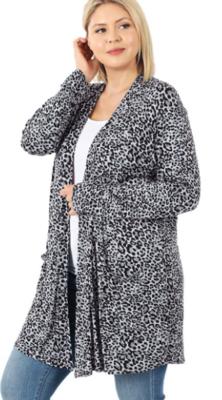 Leopard Open Cardigan 2 Colors - Sizes Sm-3X