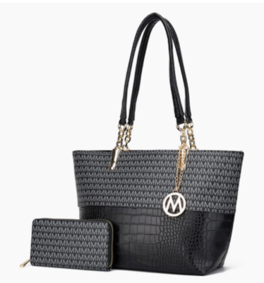 MKF Collection Sasha Tote Set With Wallet By Mia 2 Color Choices