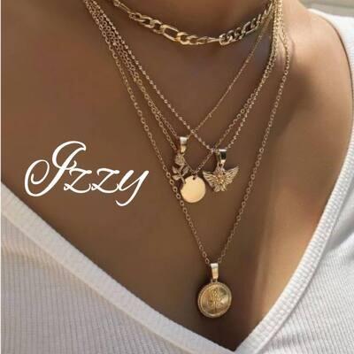 Multi Layer Gold Necklace Chain  7 Designs
