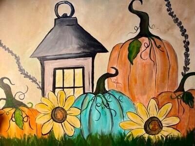 Harvest Lantern Paint and Sip