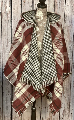 Plaid Hooded Wrap Simply Noelle 2 Colors