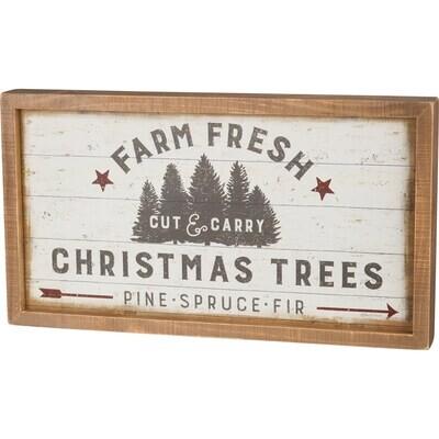 Box Sign - Farm Fresh Christmas Trees