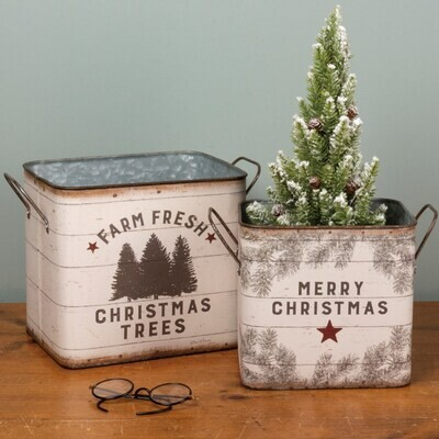 Bins - Reversible Farm Fresh Christmas Trees 2 Styles/Sizes