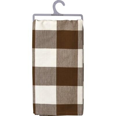 Kitchen Towel - Brown Buff Check