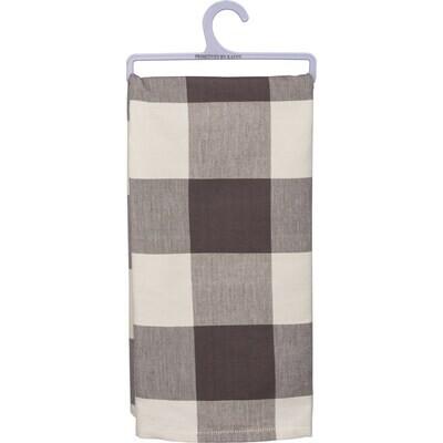 Kitchen Towel -Grey Buffalo Check