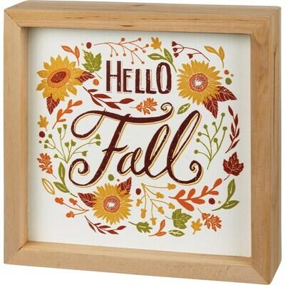 Box Sign - Hello Fall