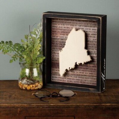 Box Sign - Maine