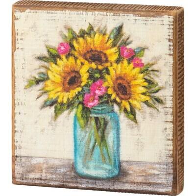 Block Sign - Sunflowers