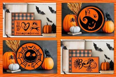 Nightmare Before Christmas Wood Sign Paint and Sip! 4 Sign Choices