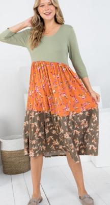 Boho Floral Dress 2 Colors