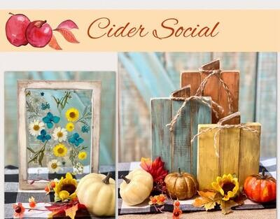 Cider Social  Shopping, Sipping, Snacking & Crafting Event