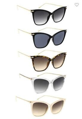 SUNGLASSES - Cats Eye Style 5 Colors