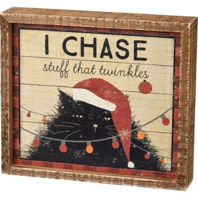 Box Sign - I Chase Stuff That Twinkles